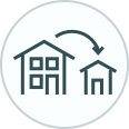 Downsizing House Icon