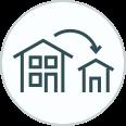 Downsizing House Icon