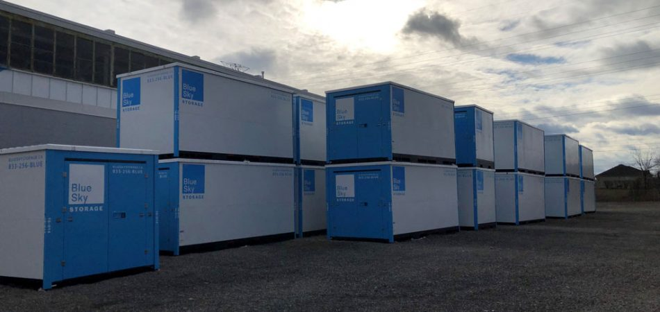 Outside Storage for Blue Sky Containers
