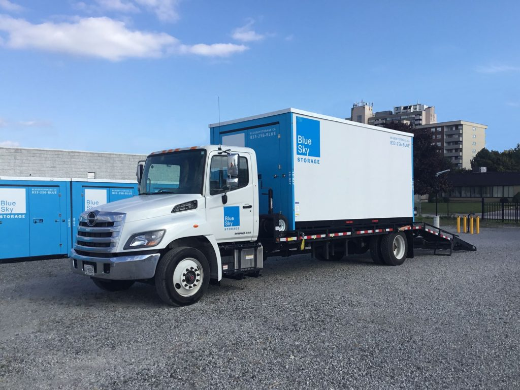 blue sky truck for portable storage units mississauga
